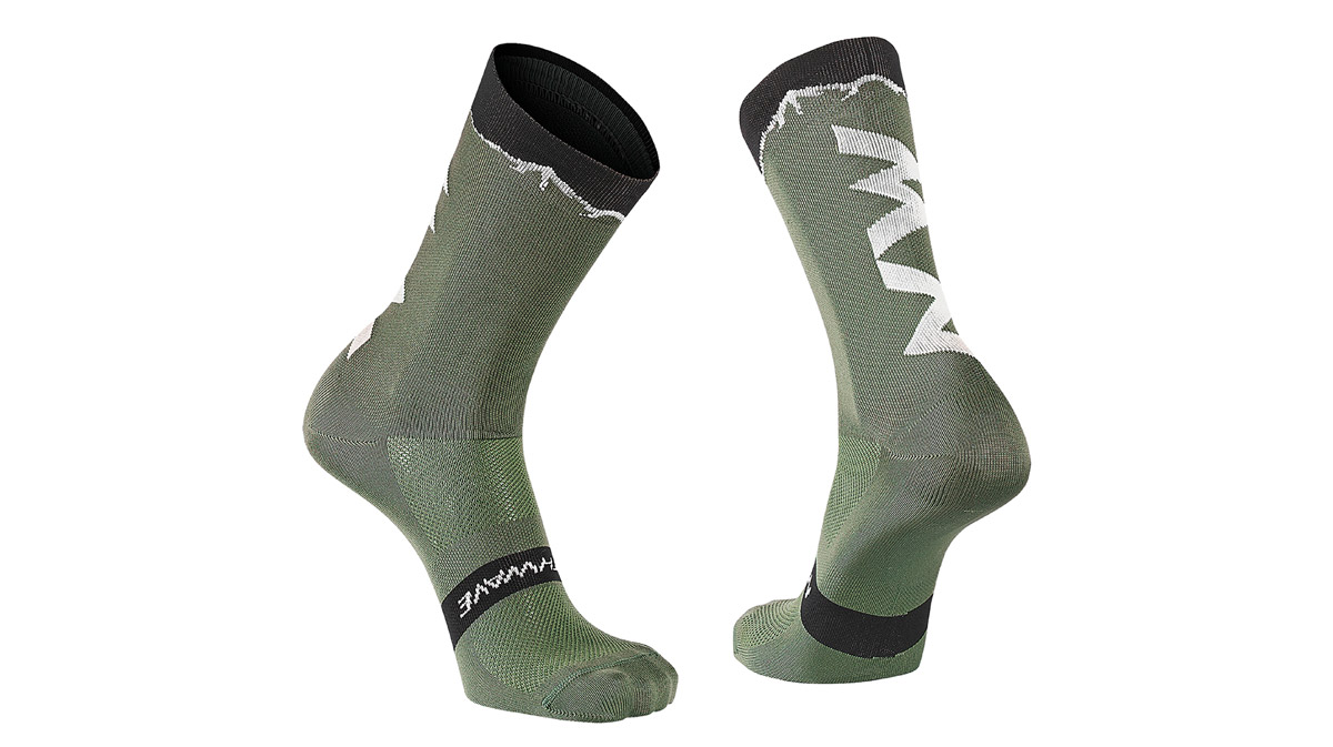 NORTHWAVE-CLAN-SOCKS-GreenForest-Black