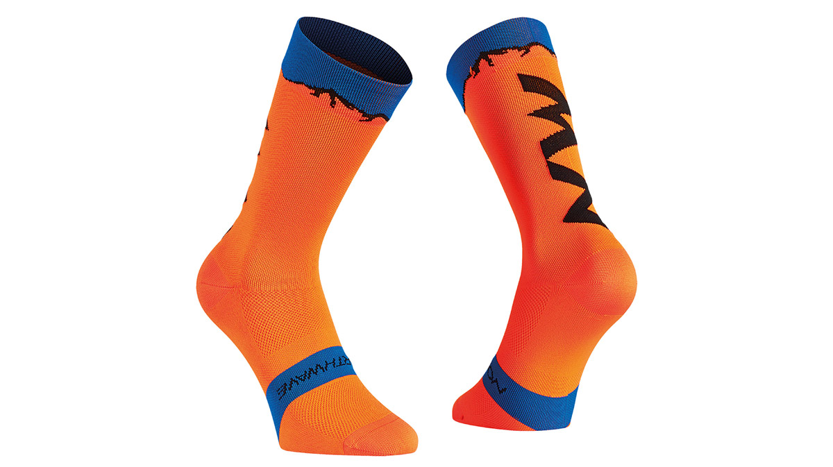 NORTHWAVE-CLAN-SOCKS-Orange-Blue