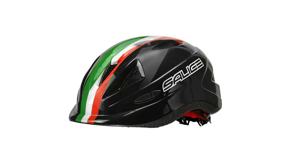 SALICE-Caschi-Mini-Bambino-Nero-Italia